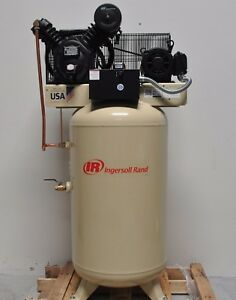 Ingersoll Rand 7 5hp 80 Gal Air Compressor 3 Phase 24 Cfm