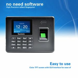 2 8 Lcd Tft Attendance Machine Realand Biometric Fingerprint Time Clock Reader