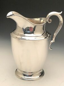 Beautiful Alvin Sterling Silver Water Pitcher 4 Pints