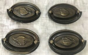Set Of 4 Vintage Antique Brass Drawer Cabinet Pulls Knobs Many Lots Available