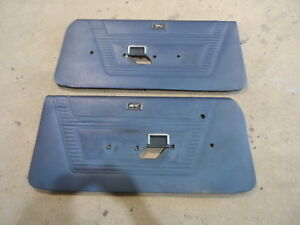 1969 1970 Mercury Cougar Eliminator Standard Blue Door Interior Trim Panels