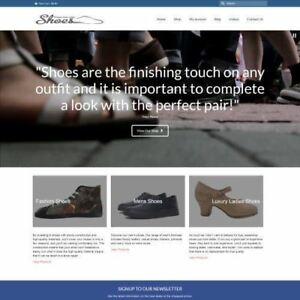 Shoes Shop Dropship Website Business For Sale Commission On Each Sale