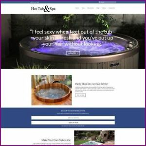 Hot Tubs Shop Mobile Friendly Responsive Website Business For Sale Hosting