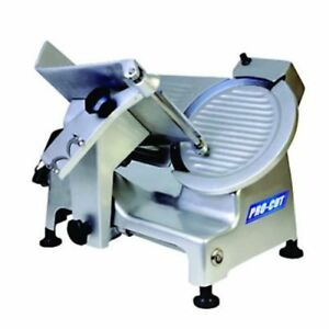 New 10 Commercial Belt Driven Meat Slicer With Sharpening Attachment