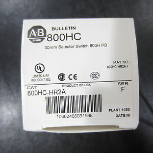 Allen bradley Selector Switch 2 position Maintained 800hc hr2a Sereis F