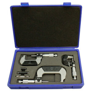 Set Of 3 Pieces Precision Digital Counter Outside Micrometer 0 3 Inch With Case