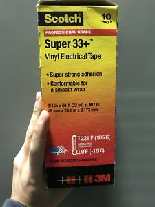 Scotch Super 33 Vinyl Electrical Tape 10 Pack