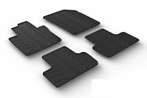 All Weather Custom Fit Rubber Floor Mats Fits 2018 19 Volvo Xc60 4 Pc Black