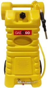 Fuel Can 25 Gal Portable Diesel Cart Tank Station Heavy duty Gravity Fed