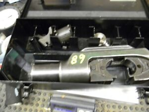 Burndy Y46 Hydraulic Crimp Tool With Case And Dies