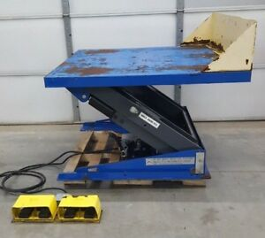 Edmo Lift Hydraulic Lift Tilt Table 4000lb Capacity 230 460v 3ph Used