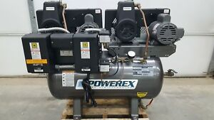 Powerex Ad107154 30 Gallon Dual Compressor 115v Air Compressor 90psi Cs100p Pump