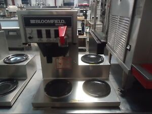 used Bloomfield 8572 Pourover Coffee Maker Brewer W 3 Warmers 120 Volt