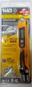New Klein Tools Noncontact Voltage Tester W laser Infrared Thermometer Ncvt 4ir