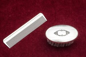2197 Boys Sterling Silver Brush Comb Set By Empire Nib