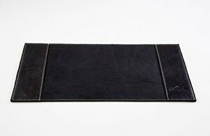 Genuine Leather Desk Pad Premium Desk Mat For The Office Black