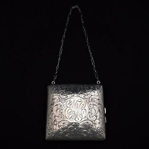 Victorian Coin Purse And Compact Sterling Silver James E Blake Sterling Co