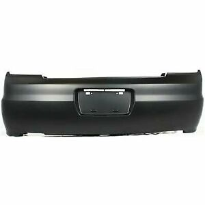 Bumper Cover For 2001 2002 Honda Accord Coupe Rear Primed With Side Marker Holes