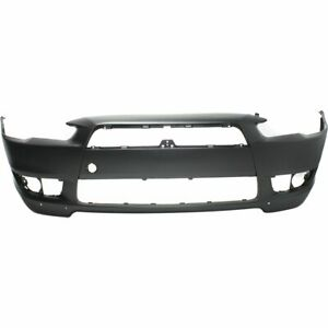 Bumper Cover For 2008 2015 Mitsubishi Lancer Front Primed W Air Dam Holes Capa
