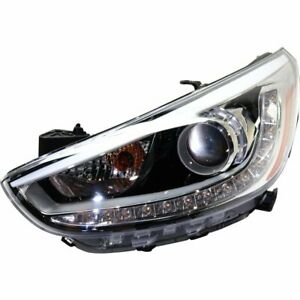 Headlight For 2012 2017 Hyundai Accent Left Halogen With Bulb Composite Type