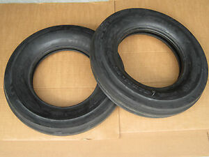 2 New 6 00 16 Tri Tread Front Tires Tubeless Tractor 600 16 6 00x16 3 Rib