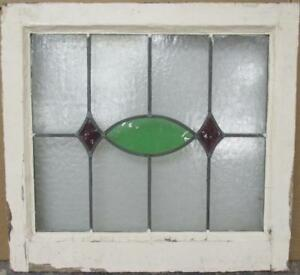 Old English Leaded Stained Glass Window Gorgeous Geometric 21 75 X 20 25