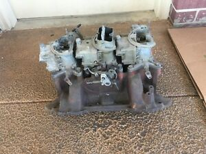 Mopar Original 1970 440 Six 6 Pack Intake Manifold And Carbs Carburetor Oem