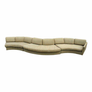 190 L Milo Baughman Craft Assoc Sectional Sofa Couch Loveseat Settee Mid Century