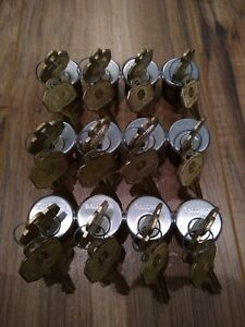 Lot Of 12 New Baldwin 1 Mortise Cylinder Schlage C Keyway Satin Nickel
