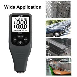 Tc200 Digital Coating Thickness Gauge Car Paint Compact Thickness Meter L3y9