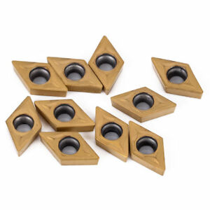 10x Dcmt070204 Dcmt21 51 Carbide Insert For Cnc Lathe Cutter Turning Tool