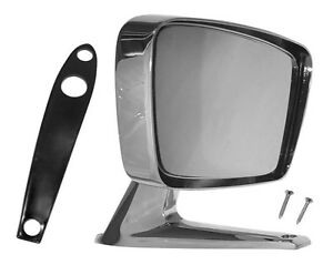 1967 1968 Ford Mustang Remote Exterior Mirror Chrome Rh W hardware 67f 85232 m