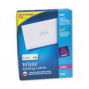 Avery White Laser Address Labels On Smooth Feed Sheets