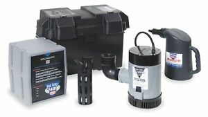 16 00 Amps Battery Backup Sump Pump With 13 5 Amps gph Of Water 5 Ft Of Head