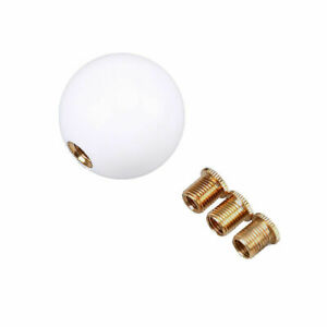 White Car Racing Manual Shift Knob Round Ball Gear Shift Knob Lever Universal
