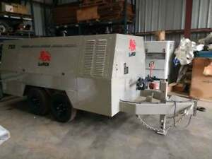 Leroi 750 Cfm Towable Air Compressor 3208 Cat Diesel Only 746 Original Hours