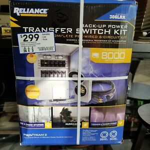 Reliance Controls 306lrk Transfer Switch Kit Back Up Power New