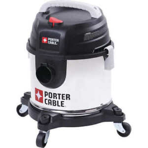 Porter Cable Stainless Steel Wet Dry Vacuum 4 Gallons Model Pre