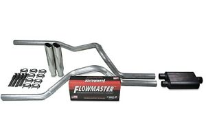 Ford F 150 04 14 2 5 Dual Truck Exhaust Kits Flowmaster 40 Series Clamp On Tip