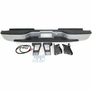 Chevy Silverado 99 07 Rear Bumper Black W bracket Stepside Heavy Duty
