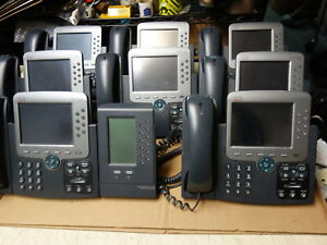 Lot Of 8x Cisco Unified Ip Phone 7975 Business Telephone Cp 7975g W Cp 7915