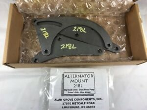 Alan Grove 218l Steel Bracket Low Profile Bb Chevy Alternator Mount Ds Bbc Swp