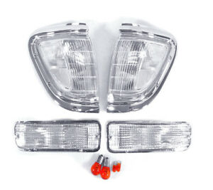 Depo Chrome Clear Corner Bumper Signal Lights Fit 95 96 97 Toyota Tacoma 4wd