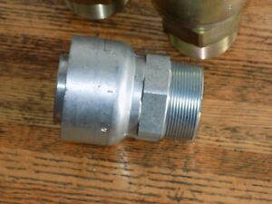 Parker 10143 32 32 Crimp Style Hydraulic Hose Fitting 2 Npt