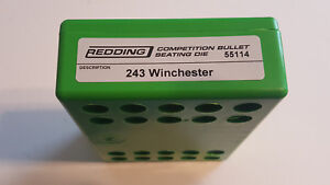 55114 REDDING COMPETITION SEATING DIE - 243 WINCHESTER - BRAND NEW - FREE SHIP