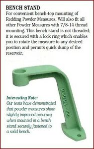 06000 REDDING POWDER MEASURE BENCH STAND - BRAND NEW - FREE SHIPPING!!