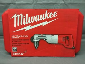 New Milwaukee 3107 6 7 Amp 1 2 In Corded Heavy Right angle Drill Kit