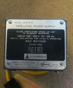Lambda Lcs a 5 5vdc Linear Power Supply