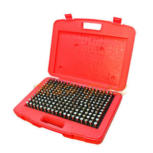 250 Pc M2 0 251 0 500 Steel Metal Plug Pin Gage Set Minus 0 0002 Gauge Set