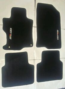 Fits 08 12 Honda Accord Floor Mats Carpet Black Nylon 4pc W Emblem